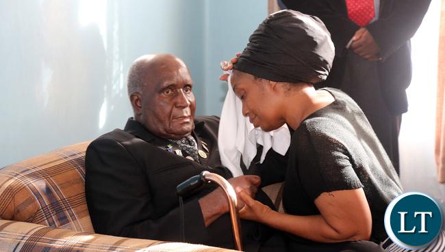 Dr Kaunda with Chileshe Kapwepwe
