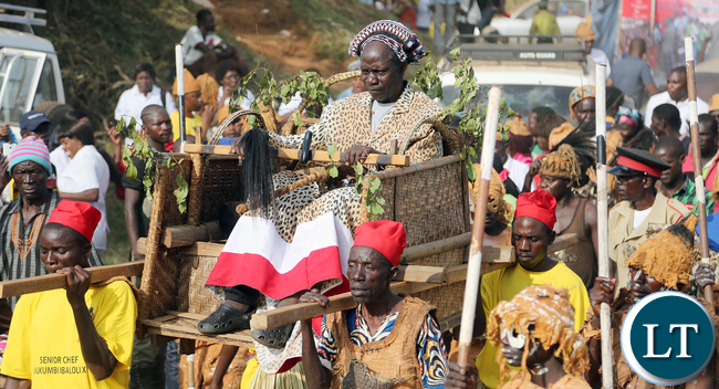 Senior Chief Mukumbi of the Kaonde people of Kalumbila Boma