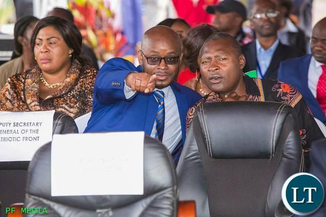 Sunday Chanda (L)  with Frank Bwalya