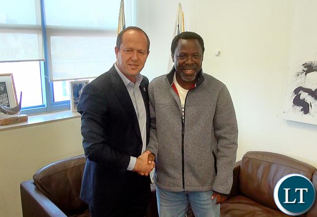 TB Joshua With Mayor Of Jerusalem Nir Barkat