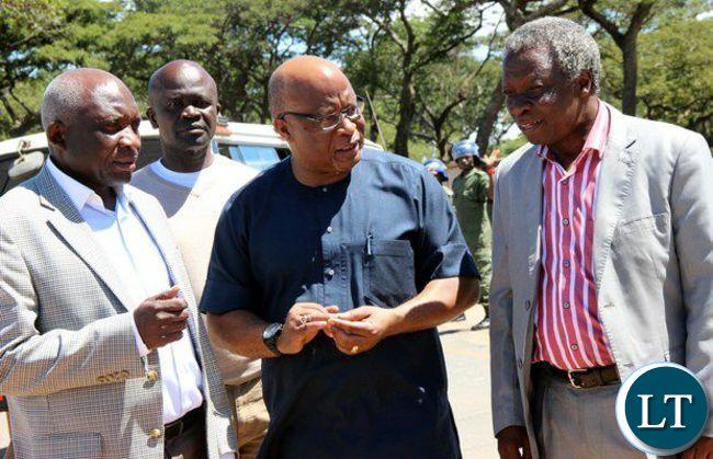 Charles Milupi Nevers Mumba and Mike Mulongoti