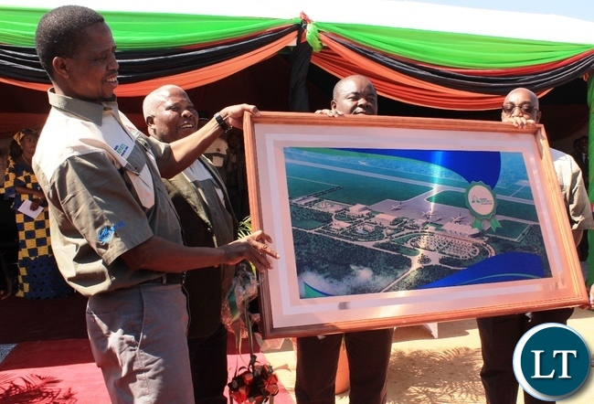 President Edgar Lungu during the Ground breaking ceremony of the New Copperbelt international Airport in Ndola