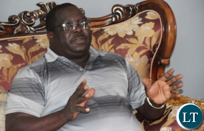 Chishimba Kambwili addressing Journalists at his house