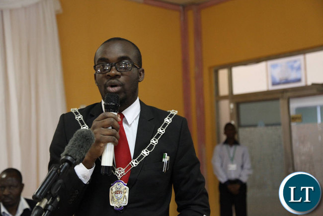Kitwe Mayor and The Local Government Association of Zambia (LGAZ) President Christopher Kang'ombe