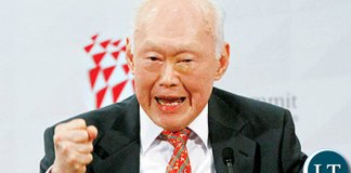 Lee Kuan Yew, the founding father of Singapore