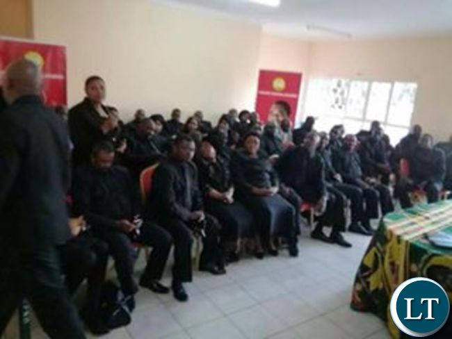 The UPND MPs during a news conference