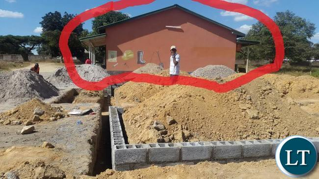 New Police Post being built allegedly next to the MP's sister's shop