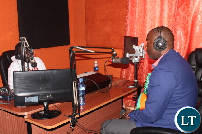 Hon. Lusambo featuring on Let the People Talk during the Trade Fair