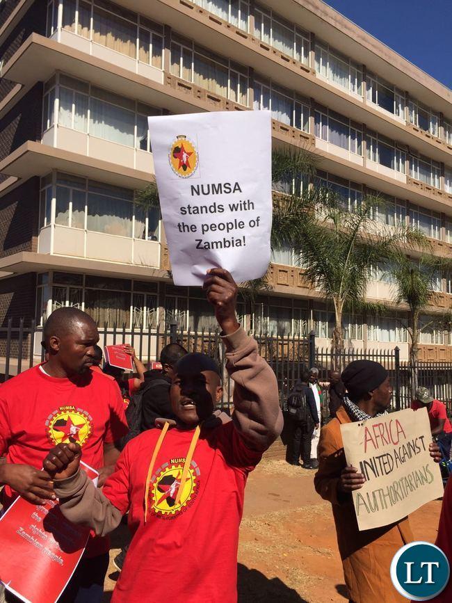 NUMSA protesters