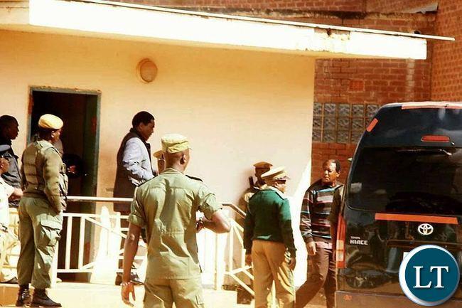UPND President Hakainde Hichilema at at Chimbokaila prison