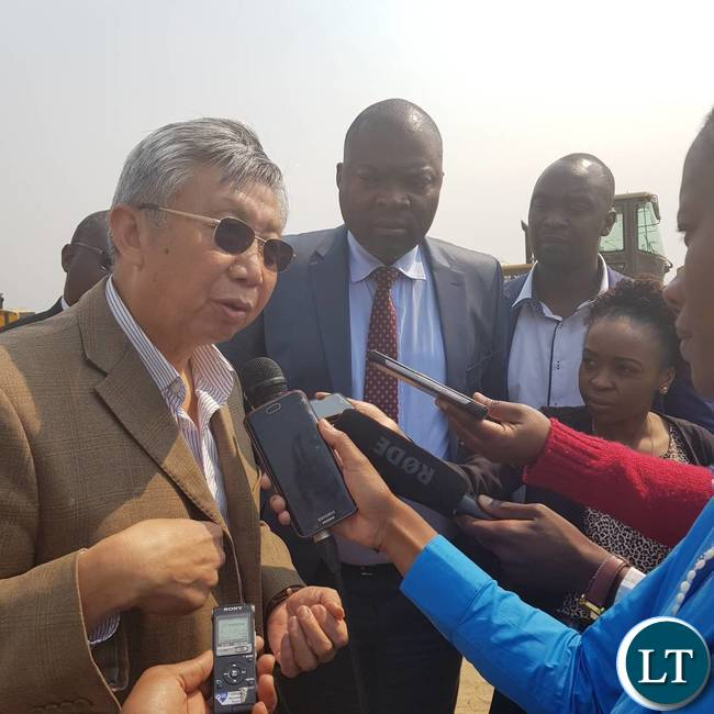 AVIC International Consultant speaking to Journalists during the site tour