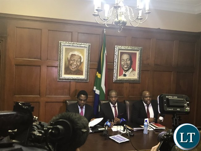 HH and DA Leader Maimane holding a joint press briefing
