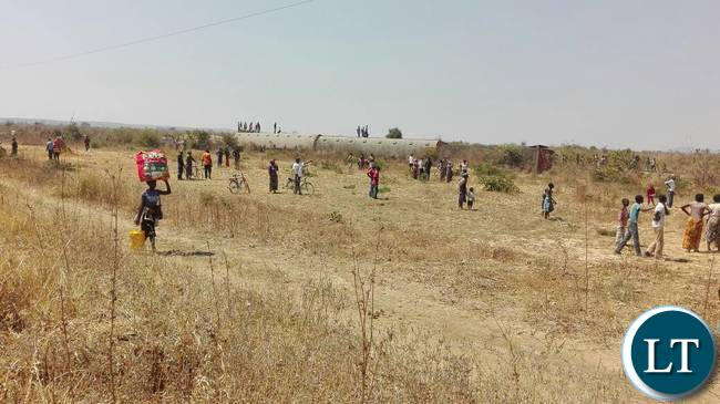 The Scene of the passenger train derailment that claimed one life between Mazabuka and Magoye in Southern province