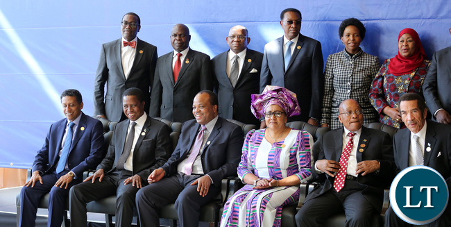 Part of SADC Leaders during the Family Photo in Pretoria