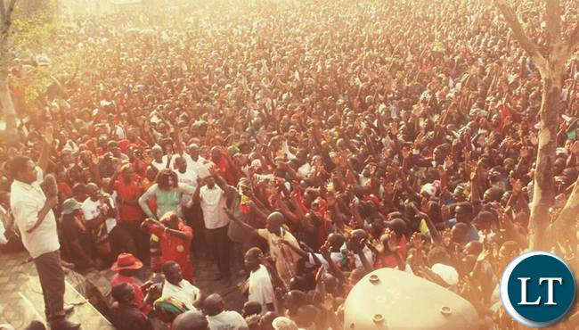 HH addressing the UPND rally in Itezhi Tezhi