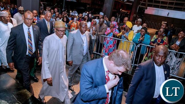Nigeria's Muhammadu Buhari on arrival in New York, he is billed to be the 8th speaker today.