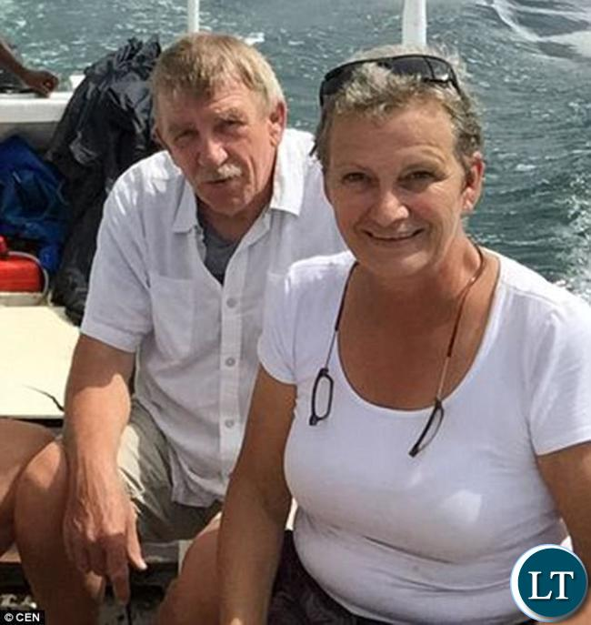 The deceased have been identified as Sabine Goossens (right), a Belgian woman who had lived in Africa for 16 years, and a Dutch friend of hers named Wim Van Griensven (left), from the city of Roermond.