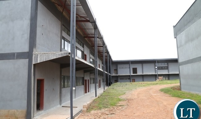 90% of the construction works of the lecturer theater at Levy Mwanawasa Hospital progress well