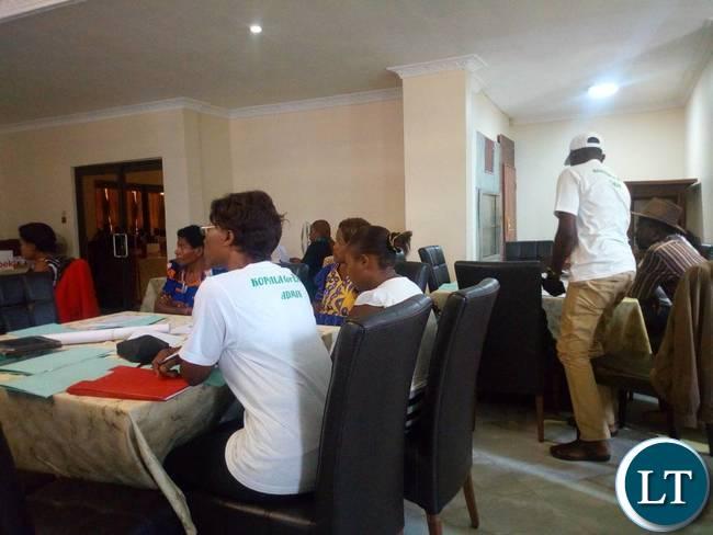 PF Whats App workshop underway in Kitwe