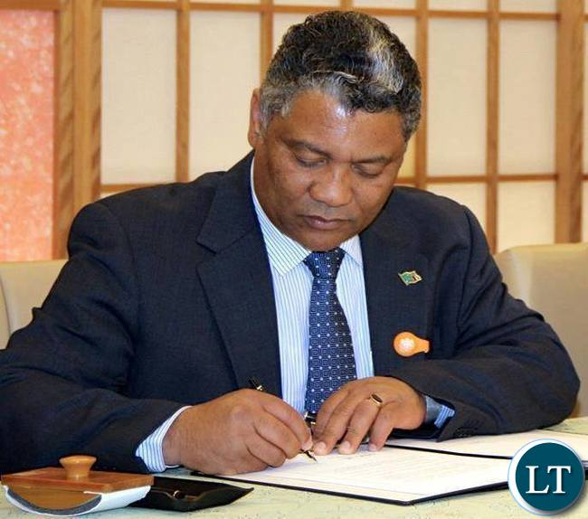 Minister of Justice Given Lubinda