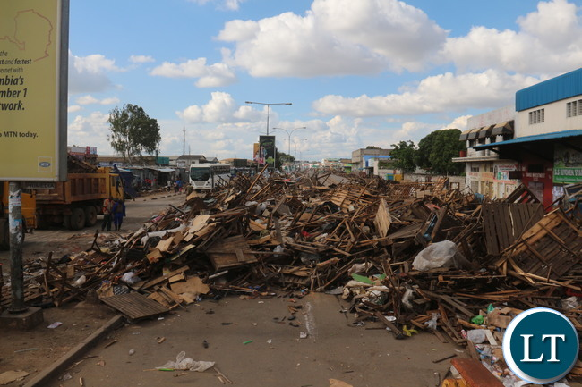 Piles of Destroyed Make Shift Market Stores