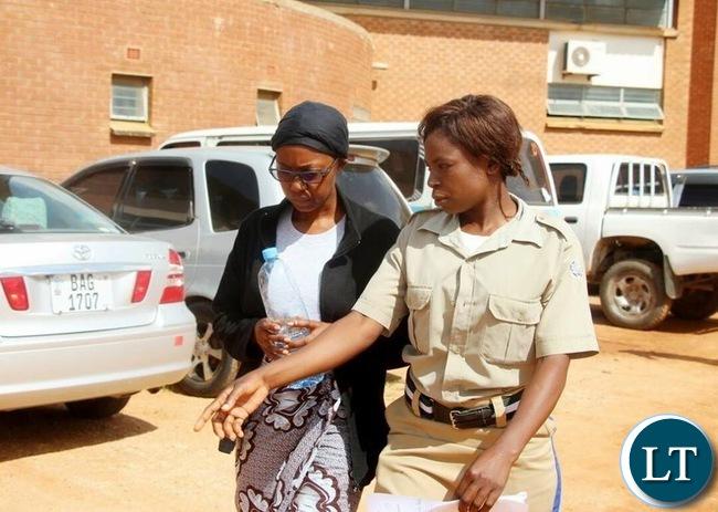 Brenda Tembo after sentencing