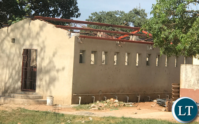 The dormitory whose roof was blown off in December has remained unattended to forcing the girls to sleep in over crowded remaining dorminatories