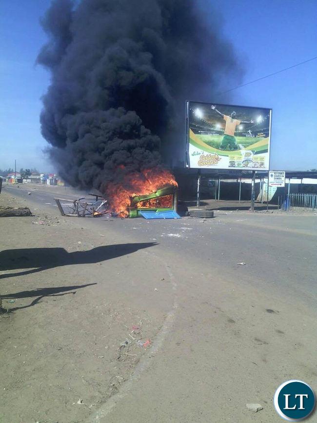 Kanyama Riots this morning