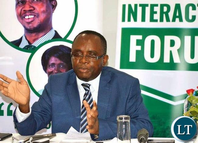Bwana Mkubwa Member of Parliament Hon. Jonas Chanda.