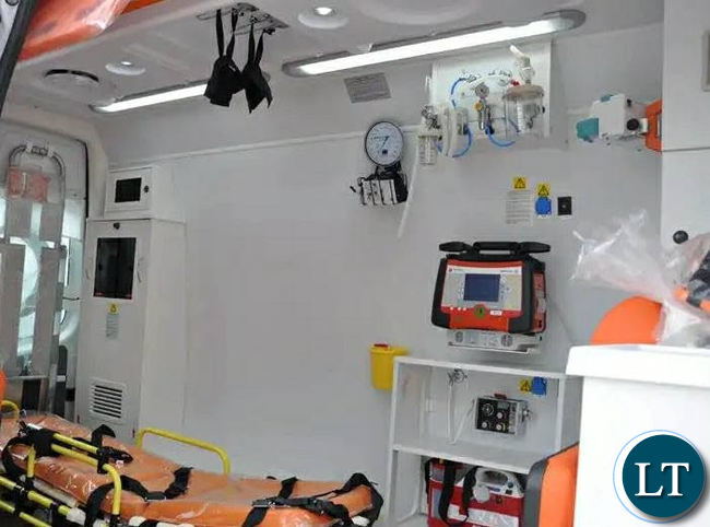 Images showing the type of custom made ambulances that the Ministry of Health has contracted Savenda Management Services to supply.