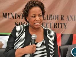 Labour Minister Hon. Joyce Nonde Simukoko