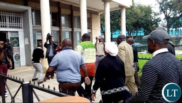 Mr Kambwili entering ACC Headquaters