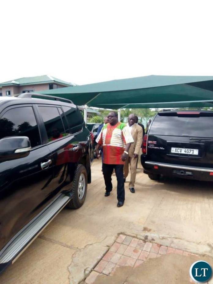 Mr. Kambwili arriving at ACC Headquaters