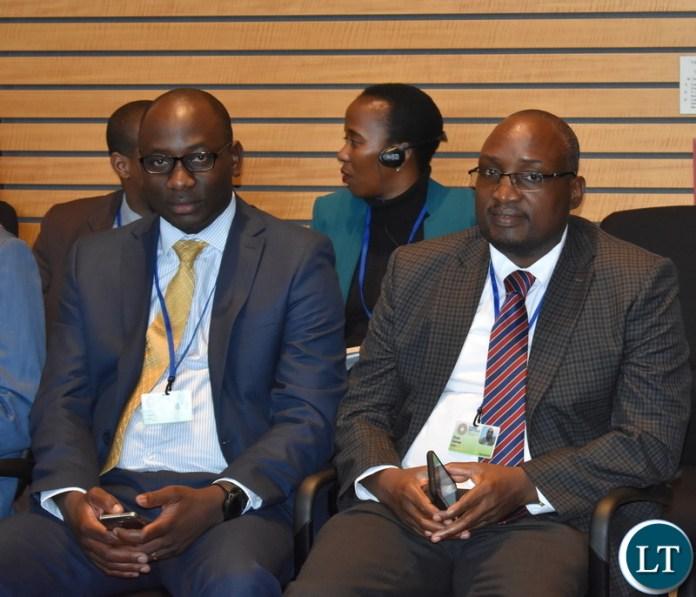 PSs Chola Chabala right and Mukuli Chikuba