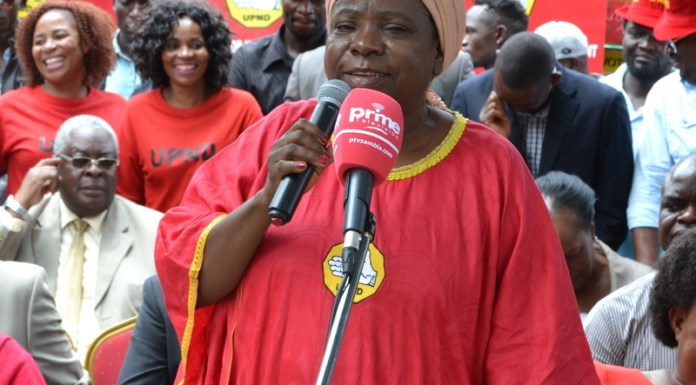 United Party for National Development (UPND) National Chairperson Mutale Nalumango