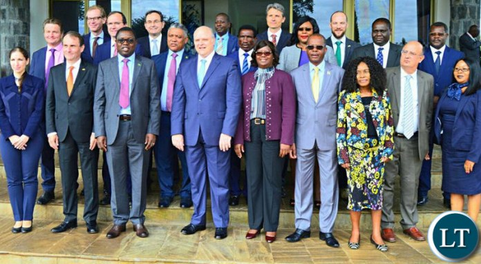 A political dialogue meeting with the European Union diplomats accredited to Zambia in Lusaka