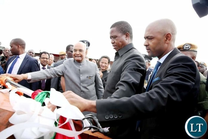 President Edgar Lungu and visiting President of India Shri Ram Nati Kovind today launched works to decongest Lusaka roads