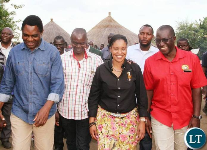 UPND Candidate Ms Charmaine Mehl Musonda with party officials