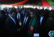 HH greets First Lady Esther Lungu at late Munkombwe's burial in Choma