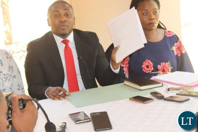 ZCID Board Spokesperson Jackson Silavwe