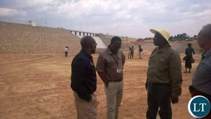 Mwomboshi Dam in Chisamba District