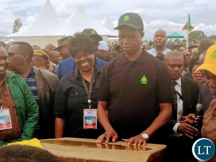 President Lungu in Kasama when he launched the ZAFFICO Kasama Forest Plantation