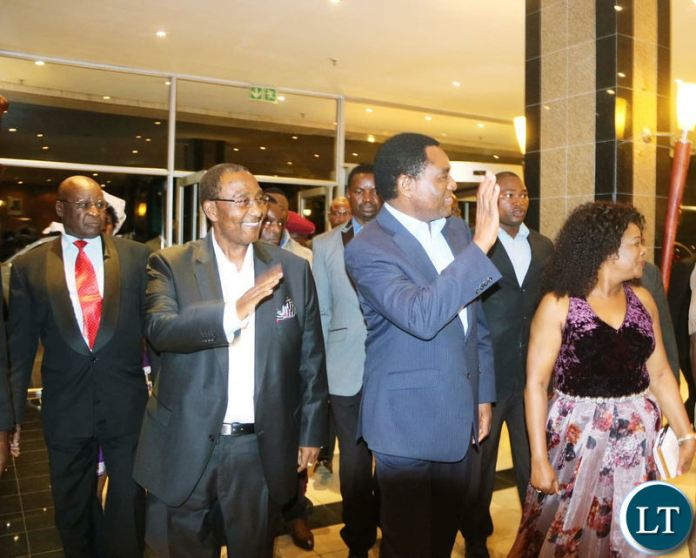 HH arrived at Intercontinental Lusaka for the UPND 20th anniversary dinner on Friday night