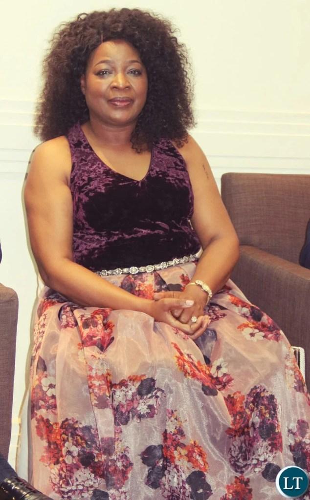 Mrs Mutinta Hichilema at the UPND 20th anniversary dinner on Friday night