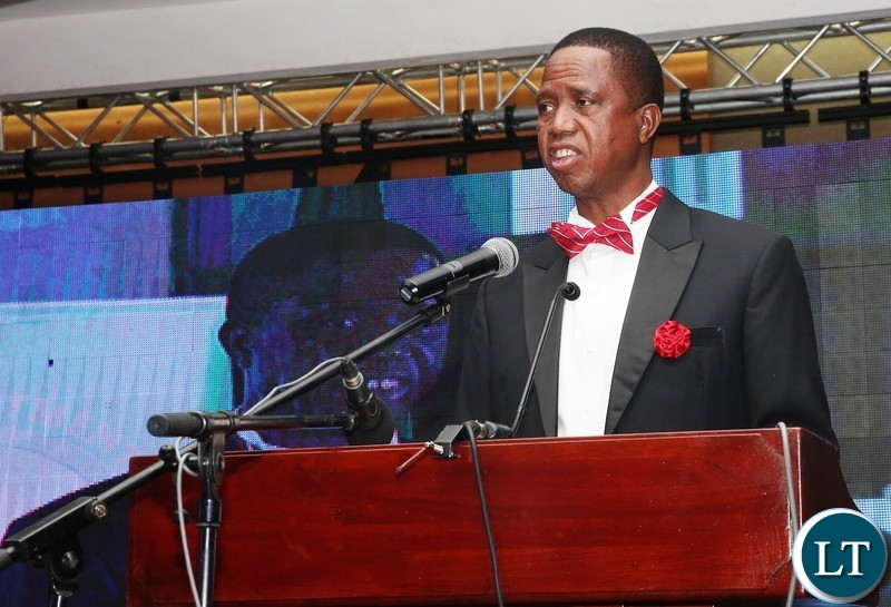"President Edgar Chagwa Lungu  at the First-ever-Annual Economics Gala Dinner organised by the Economics Association of Zambia under the theme: ""Uniting Towards Achieving An Integrated Approach To National Economic Development"" at InterContinental  Hotel on Wednesday, December 12,2018-Pictures by THOMAS NSAMA/STATE HOUSE"