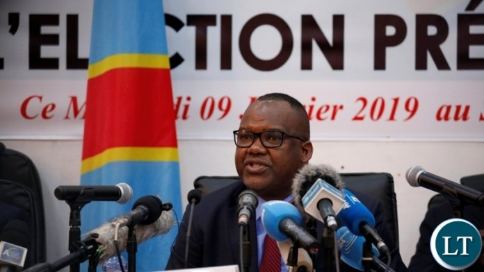 Corneille Nangaa, president of CENI, announces the results of the DRC's presidential election