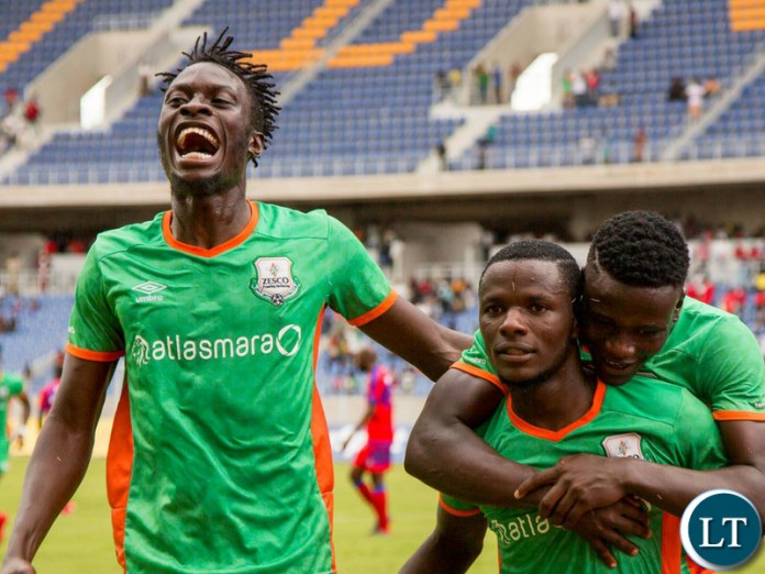 ZESCO United Players cerebrate the second Goal