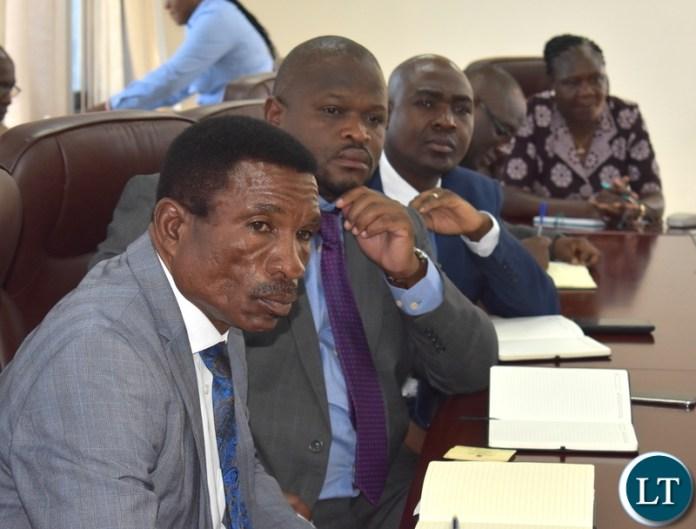 Ministers- Katambo, Chiteme and Mwakalombe, PS Mushuma and Director Lishomwa, 21-02-2019. MNDP