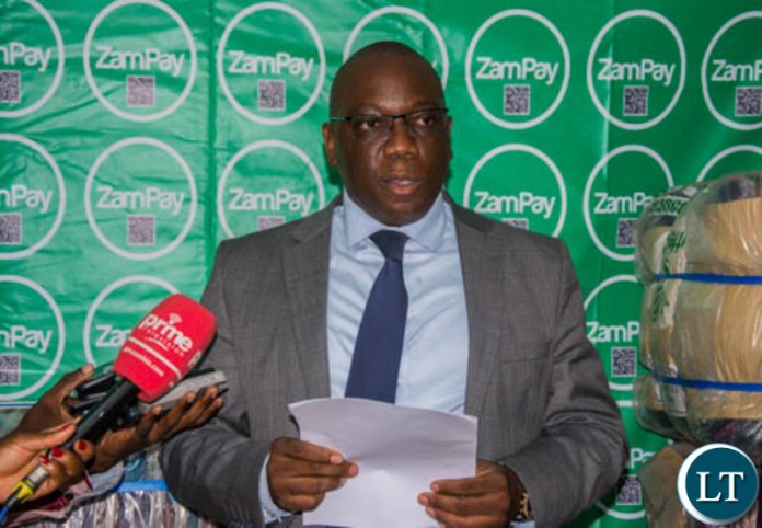 Zamtel Corporate Affairs Manager Chibeza Ngoma speaking during the hand over of Blankets and Linen to UTH Maternity Ward BO1
