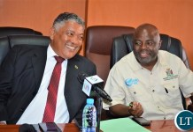 Minister of Justice Given Lubinda and Home Affairs Minister Stephen Kampyongo